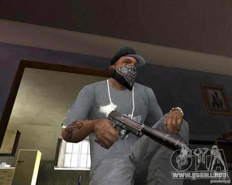 Pistola con silenciador para GTA San Andreas