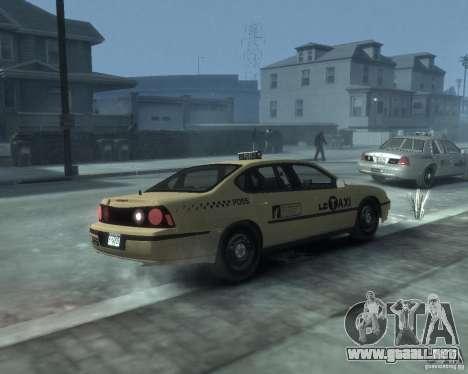 Chevrolet Impala 2003 Taxi para GTA 4 visión correcta