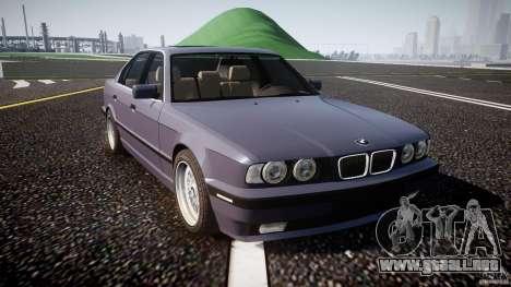 BMW 5 Series E34 540i 1994 v3.0 para GTA 4 vista interior