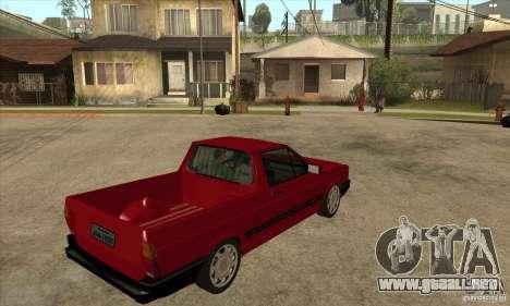 VW Saveiro GL 1989 para la visión correcta GTA San Andreas