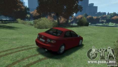 Mazda 6 MPS para GTA 4 vista hacia atrás