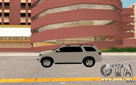 Toyota Sequoia 2011 para visión interna GTA San Andreas