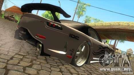 Mazda RX-7 Veilside Logan para GTA San Andreas vista posterior izquierda