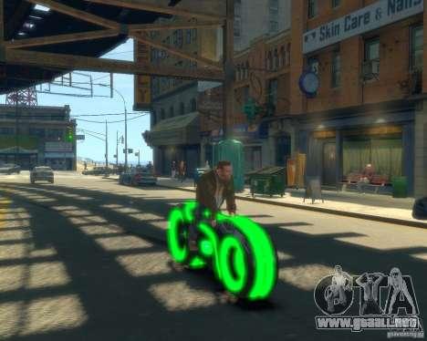 Motocicleta del trono (neón verde) para GTA 4 visión correcta