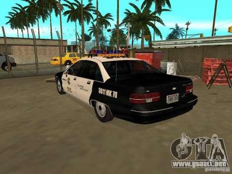 Chevrolet Caprice Police para GTA San Andreas left