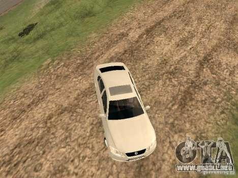 Lexus GS-350 para GTA San Andreas vista hacia atrás