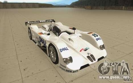 BMW V12 LeMans - Stock para GTA San Andreas vista hacia atrás