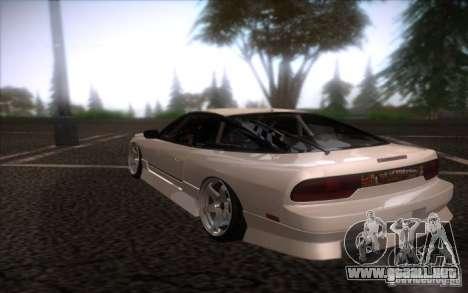 Nissan 240SX DriftMonkey para GTA San Andreas vista posterior izquierda