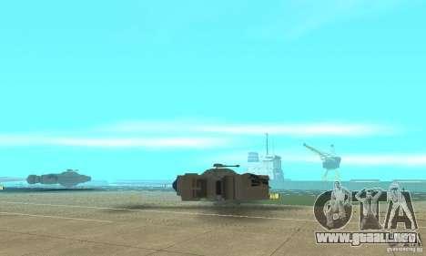 Gaceta YT-2400 para GTA San Andreas vista hacia atrás