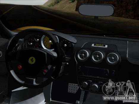 Ferrari F430 Scuderia Spider 16M para GTA San Andreas interior