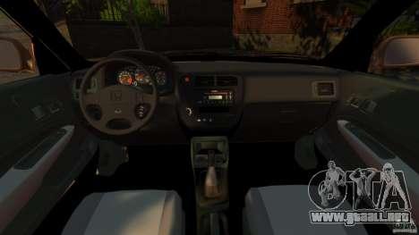 Honda Civic VTI para GTA 4 vista hacia atrás