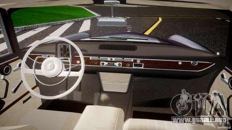 Mercedes-Benz W111 v1.0 para GTA 4 vista hacia atrás