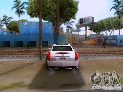 Cadillac CTS-V 2009 para GTA San Andreas vista hacia atrás