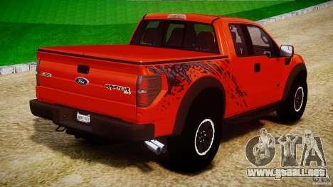 Ford F150 SVT Raptor 2011 para GTA 4 vista superior