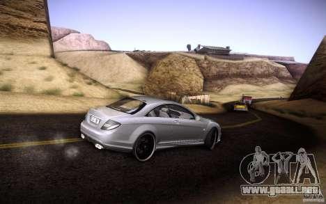Mercedes Benz CL65 AMG para la vista superior GTA San Andreas