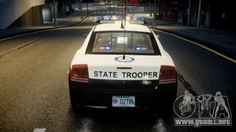 Dodge Charger Florida Highway Patrol [ELS] para GTA 4 vista desde abajo