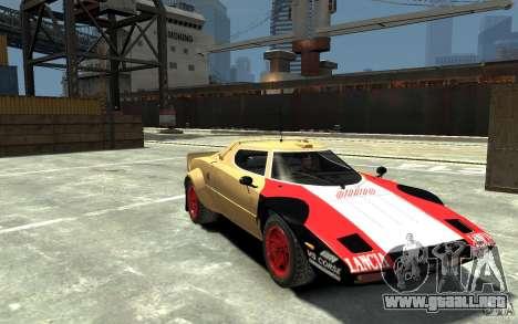 Lancia Stratos para GTA 4 vista hacia atrás