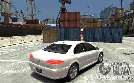 Peugeot 607 Sedan 2007 para GTA 4 visión correcta