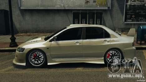 Mitsubishi Lancer Evolution VIII v1.0 para GTA 4 left