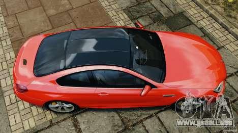 BMW M6 F13 2013 v1.0 para GTA 4 visión correcta