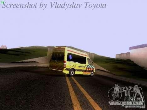 Mercedes-Benz Sprinter Ambulance para la vista superior GTA San Andreas