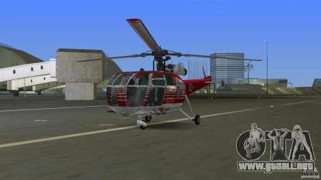 IAR 316B Alouette III SMURD para GTA Vice City left