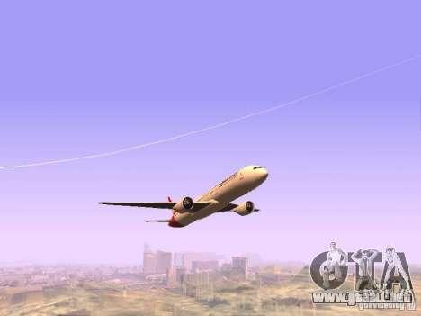Boeing 787 Dreamliner Qantas para GTA San Andreas vista hacia atrás
