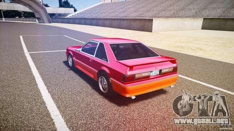 Ford Mustang GT 1993 Rims 2 para GTA 4 Vista posterior izquierda