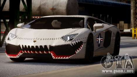 Lamborghini Aventador LP700-4 2012 USAF para GTA 4 Vista posterior izquierda