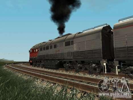 2te116u-0040 RZD para GTA San Andreas vista hacia atrás