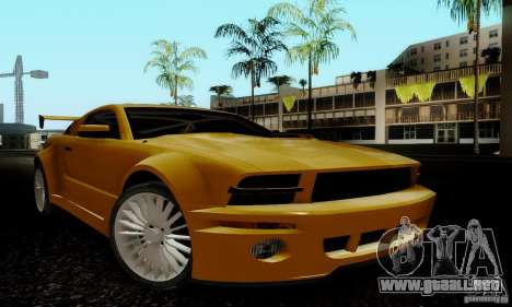 Ford Mustang GT para GTA San Andreas vista hacia atrás