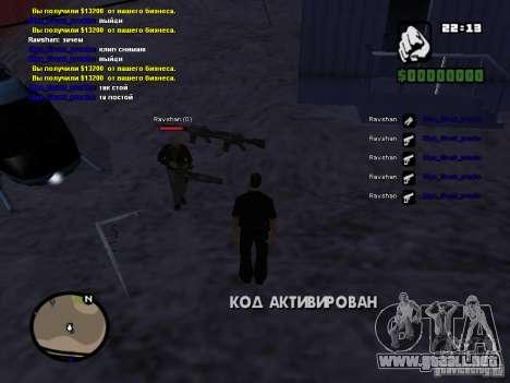 Falsa muerte de agujas y Mcd para GTA San Andreas segunda pantalla
