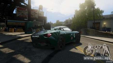 Aston Martin V12 Zagato 2012 para GTA 4 Vista posterior izquierda