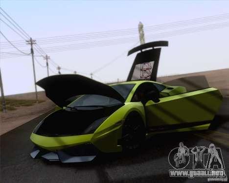 Lamborghini Gallardo LP570-4 Superleggera 2011 para GTA San Andreas vista posterior izquierda