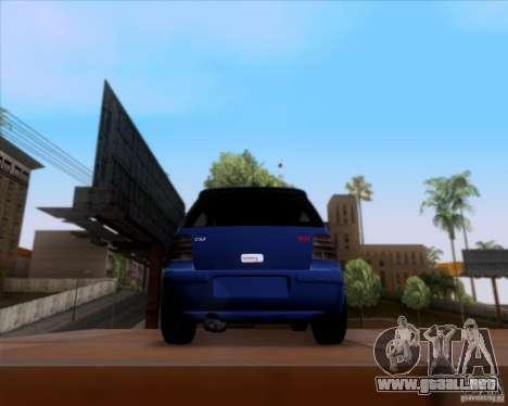 Volkswagen Golf GTi 2003 para visión interna GTA San Andreas