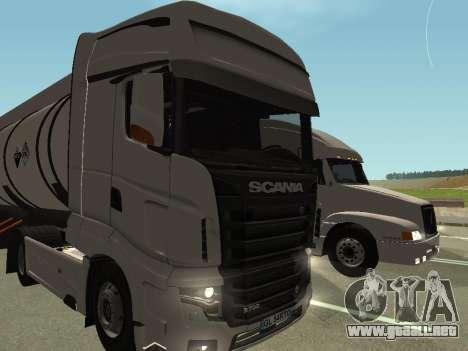Scania R700 Euro 6 para GTA San Andreas vista hacia atrás