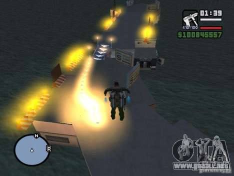 Night moto track para GTA San Andreas sexta pantalla