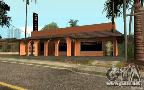 Un nuevo bar en Gantone v. 2 para GTA San Andreas segunda pantalla