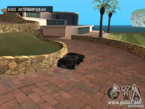 Mansión de la isla para GTA San Andreas quinta pantalla