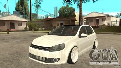 Volkswagen Golf VI 2010 Stance Nation para GTA San Andreas