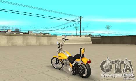 Harley Davidson softail Skin 1 para GTA San Andreas vista posterior izquierda