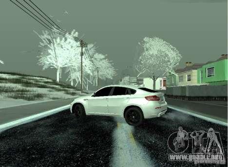 BMW X6M E72 para GTA San Andreas vista posterior izquierda
