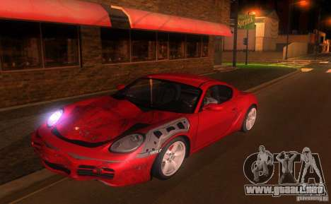 Porsche Cayman S para la vista superior GTA San Andreas