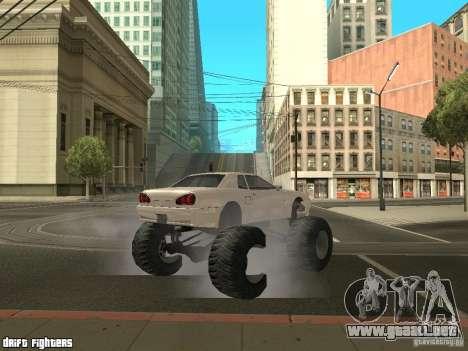 Elegy Monster para GTA San Andreas vista hacia atrás