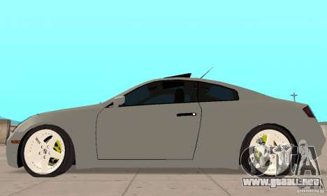 Nissan Skyline 350GT 2003 para GTA San Andreas vista posterior izquierda