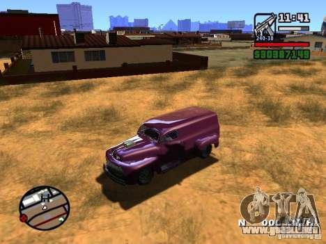 49 Ford HR Van para GTA San Andreas vista hacia atrás
