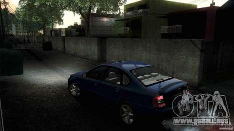 Subaru Legacy B4 3.0R specB para GTA San Andreas vista hacia atrás