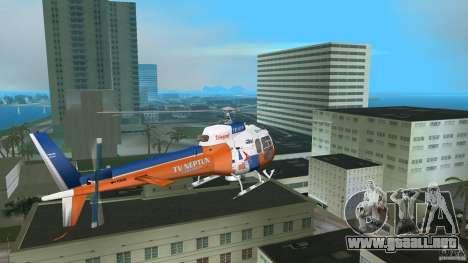 Eurocopter As-350 TV Neptun para GTA Vice City vista lateral izquierdo