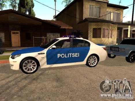 BMW 5-er Police para GTA San Andreas left