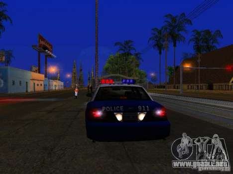 Ford Crown Victoria Belling State Washington para visión interna GTA San Andreas